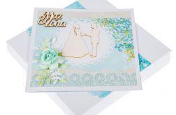 Kartka ślubna w ozdobnym pudełku