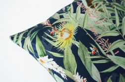 Poszewka dresowa dżungla na granacie - wiosna