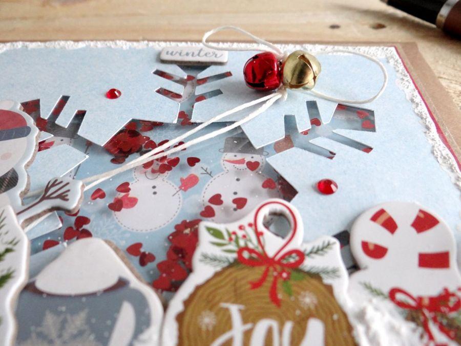 Kartka świąteczna BAŁWAN SHAKER #2 - Detal2