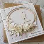 Kartka Ślubna rustykalna z dużym bukietem  - z bukietem3