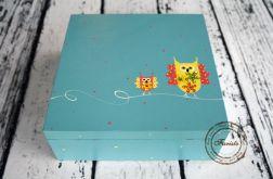 pudełko duże sówki