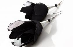 Kolczyki Silk czarne kwiaty