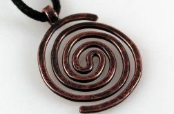 Spiralny – miedziany wisiorek 2109-23
