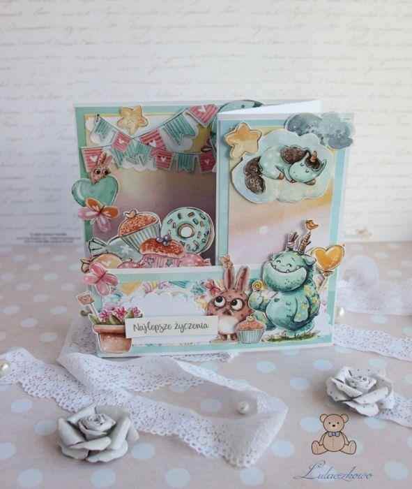 Kartka urodzinowa rozkładana SweetstersGOTOWA