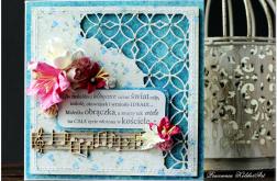 Ażurowy narożnik- ślubna karta #7