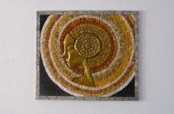 Mozaika ścienna + metal - SŁOŃCE