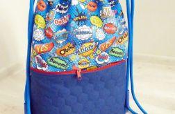 Worek /plecak Workoplecak Komiks niebieski