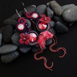 Fleur 4 - kiatowe sutaszowe kolczyki sutasz