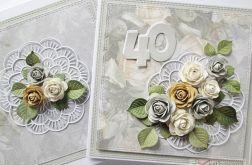 Kartka ROCZNICA ŚLUBU z pastelowymi różami