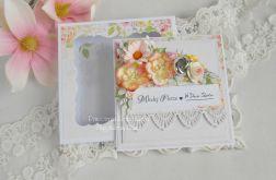 Ślubna kartka w pudełku 136
