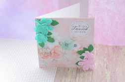 Kartka urodzinowa ręcznie robiona + koperta