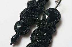 Czarne sztyfty z kryształkami i żywicą