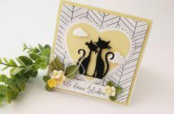 Kotki - kartka ślubna