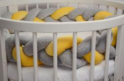 pleciony WARKOCZ ochraniacz do łóżeczka