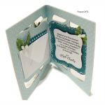 Niebieska Pamiątka Chrztu ręcznie robiona - Kartka na chrzest dla chłopca