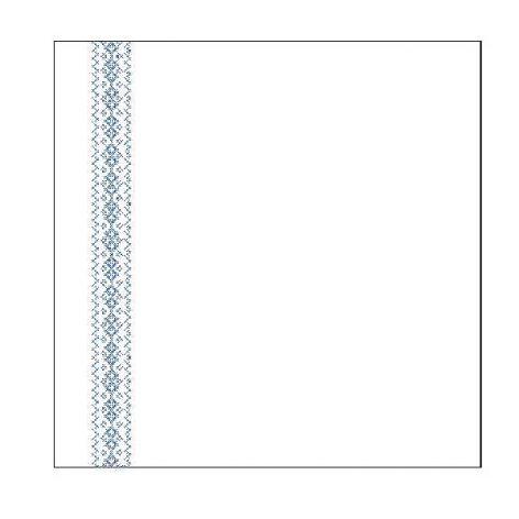 Jaśki z haftem łemkowskim krzyżykowym