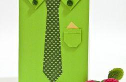 Kartka z okazji urodzin dla mężczyzny, taty, dziadka, wujka, brata - Koszula z krawatem