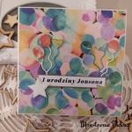 Kartka urodzinowa Dinozaury - Pudełko na kartkę Dino