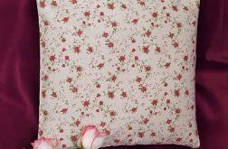 poduszka z łuską gryki i lawendą - róże