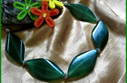 Duże, zielone agaty. Elegancki naszyjnik