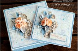 Mediowy zestaw Ślubny kartka i pudełko