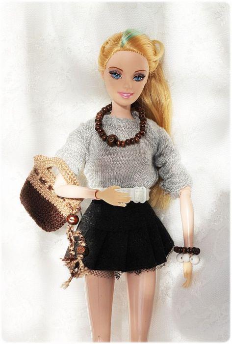 Torebka i biżuteria dla lalki