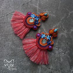 Keilani - kolorowe kolczyki sutasz