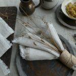 Serweta lniana boho naturalna - Tekstylia stołowe