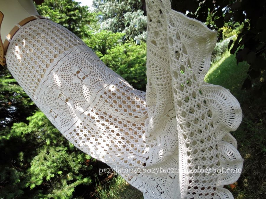 spódnica szydełkowa w stylu boho