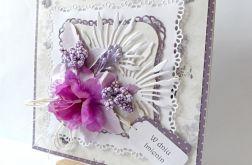 Kartka imieninowa fioletowa