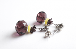Kolczyki z serii FioletLove z różą