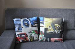 Poszewka dekoracyjna - stare samochody