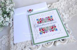 Ślubna kartka w kopercie 11