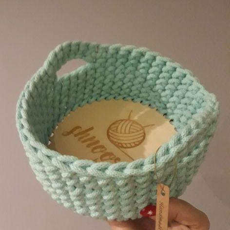 Koszyk na drobiazgi ze sznurka Mięta