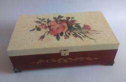 Pudełko ozdobne na herbatę z reliefem