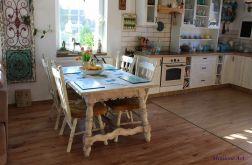 Komplet krzeseł drewnianych Prowansja