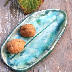 Ceramiczny liść, talerzyk (c14)