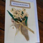 kartka na ślub, bukiet - kartka na ślub