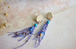Kolczyki z fioletowym lnem