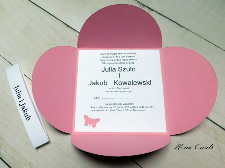 Zaproszenia ślubne Petal -