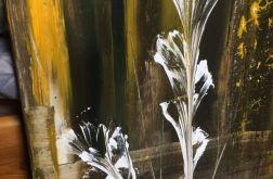 Obraz abstrakcja kwiat 50x40cm
