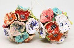 Wyjątkowa ceramiczna Bombka na choinkę Handmade