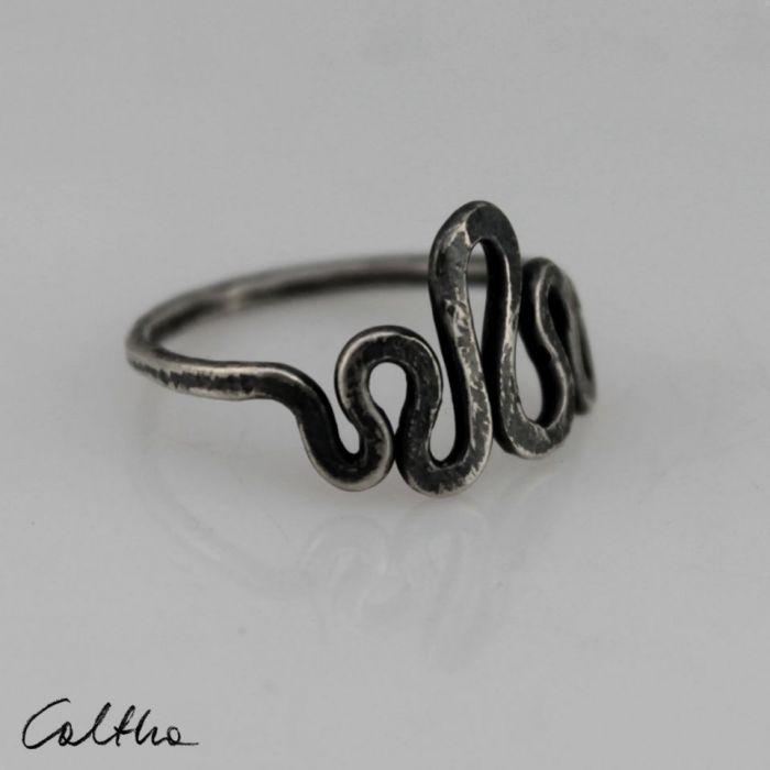 Srebrny pierścionek rozm. 15 - 190511-01 - Pierścionek srebrny