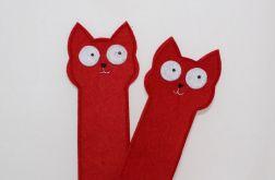 Zakładka do książki kot czerwony