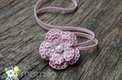 Momilio * opaska  kwiatuszek różowy