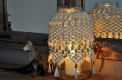 Lampion boho makrama