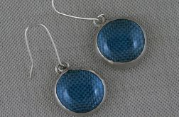 Błękitne w srebrze - wisior