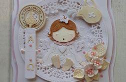 Kartka z aniołkiem na chrzciny