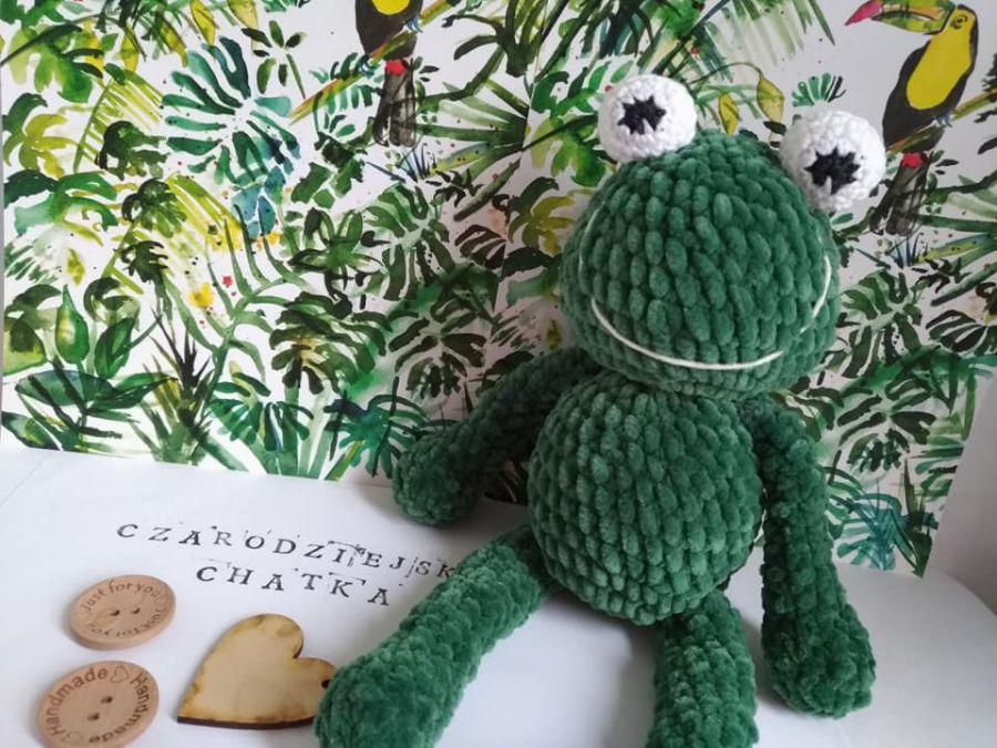 Pluszowa żaba Aleksandra - maskotka żaba