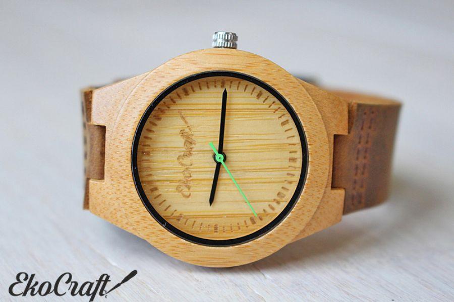 Drewniany damski zegarek BAMBOO GREEN